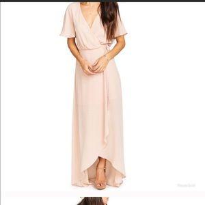 Show Me Your MuMu. Dusty blush wrap dress.